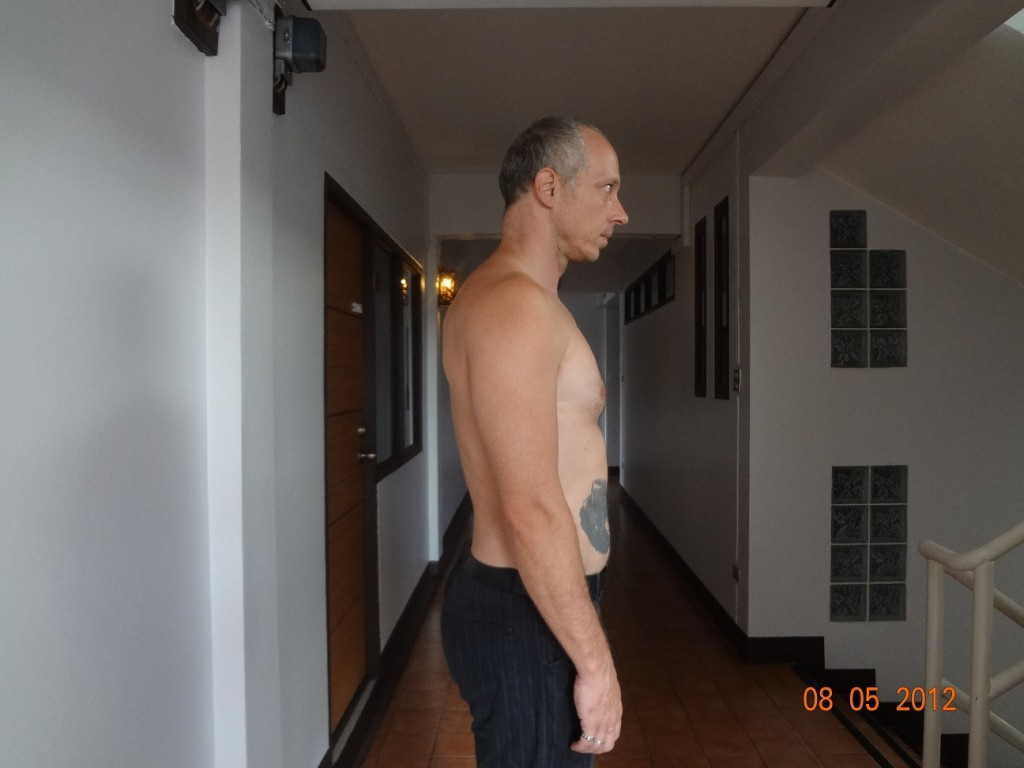 Correcting standing posture picture